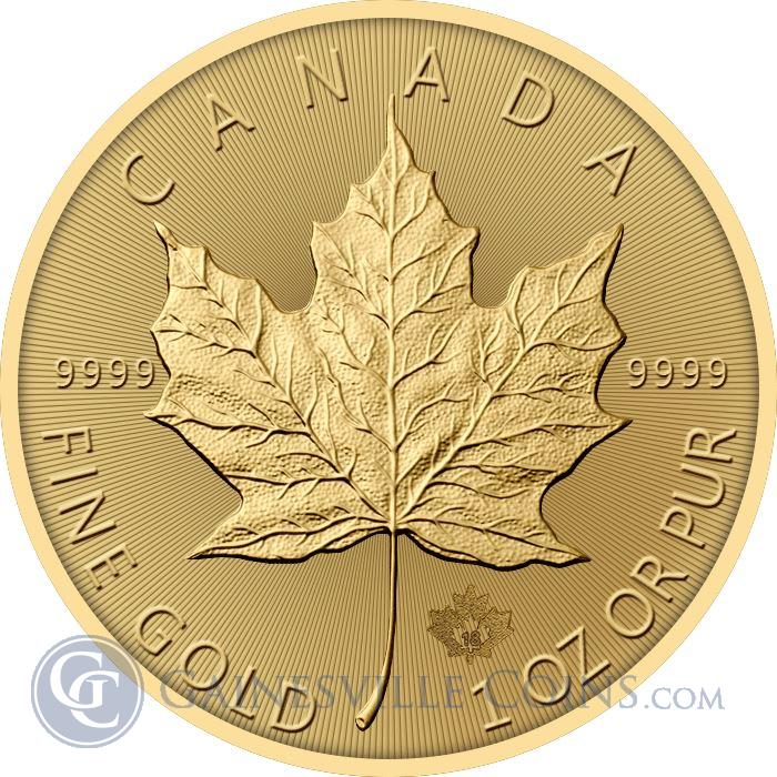 Image Showcase for 2018 1 oz Canadian Gold Maple Leaf (BU)