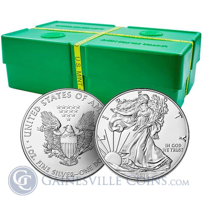 Image Showcase for 2018 American Silver Eagle Monster Box of 500 Coins - BU