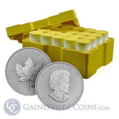 2018 Silver Maple Leaf Canada - Monster Box Of 500 Coins (BU)