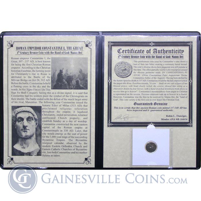 Image Showcase for Roman Emperor Constantine Hand Of God Coin Album