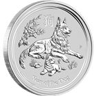 2018 2 oz Australia Silver Dog Lunar Coin Perth Mint (BU in Capsule)