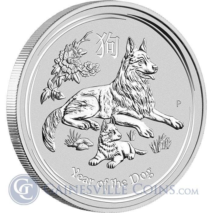 Image Showcase for 2018 10 oz Australia Silver Dog Lunar Coin (BU in Capsule)