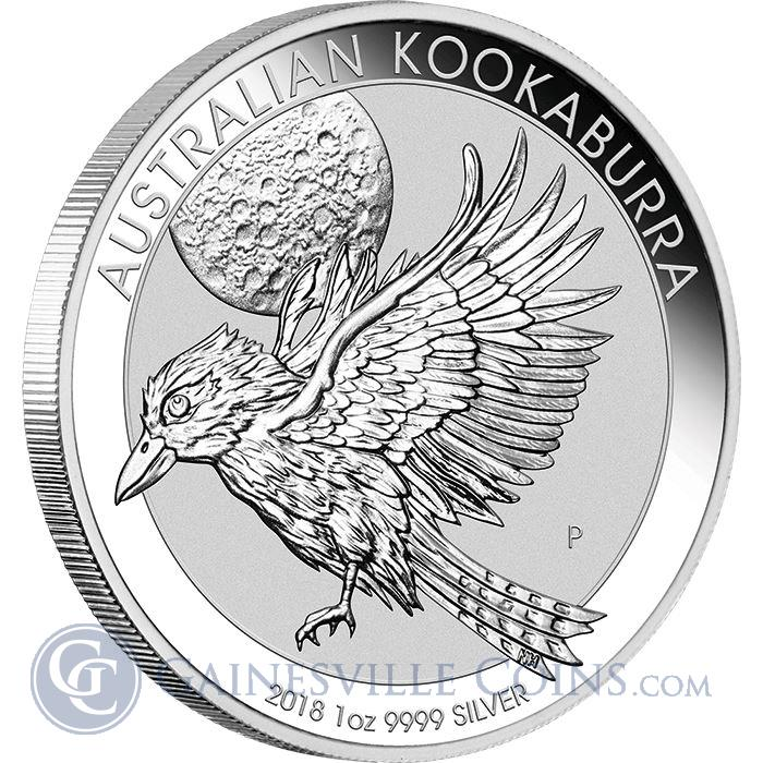 Image Showcase for 2018 1 oz Australian Silver Kookaburra - BU In Capsule