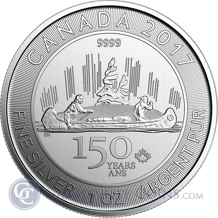 Image Showcase for 2017 Canada Voyageur 1 oz Silver 150 Special Edition $5 Coin