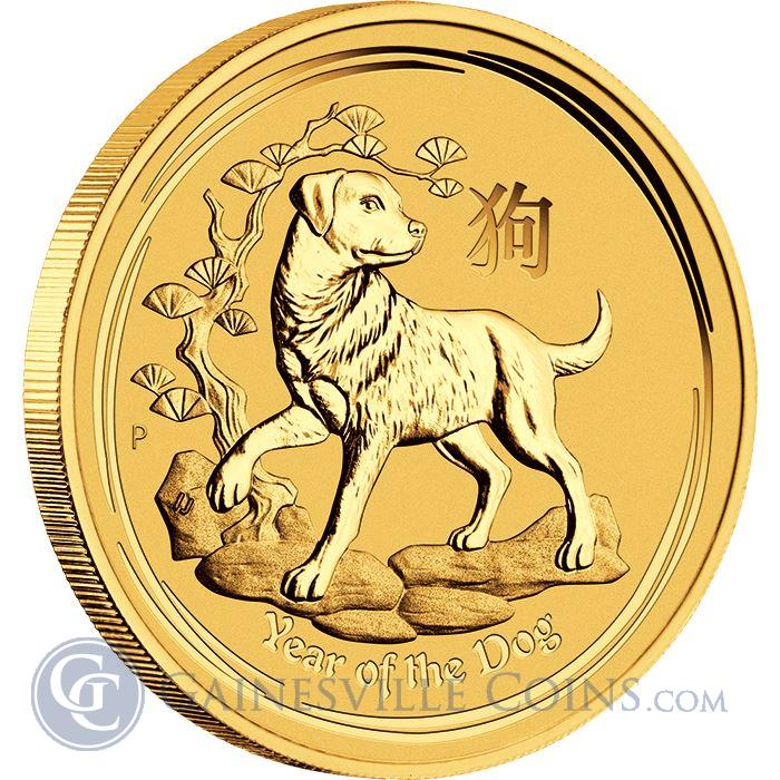Image Showcase for 2018 1/10 oz Gold Lunar Year Of The Dog - Australia Perth Mint (BU In Capsule)