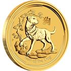 2018 1/20 oz Gold Lunar Year Of The Dog - Australia Perth Mint (BU In Capsule)