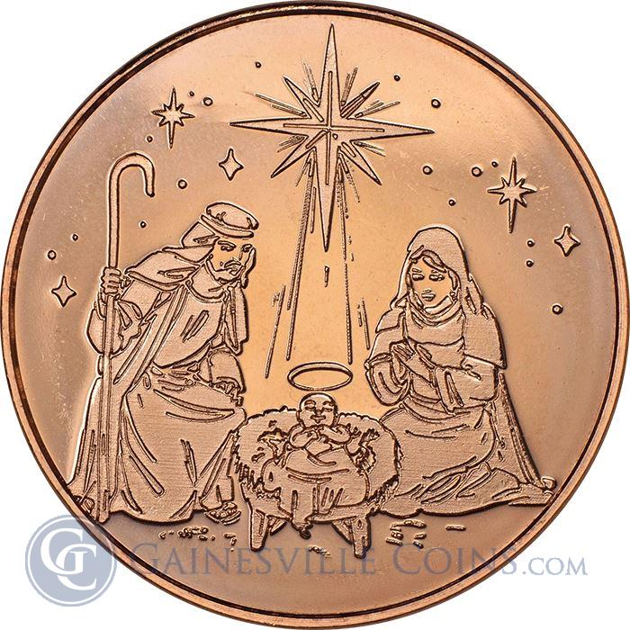 Image Showcase for Nativity Copper Round - 1 AVDP Ounce (.999 Pure)