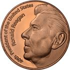 Ronald Reagan Copper Round - 1 AVDP Ounce (.999 Pure)
