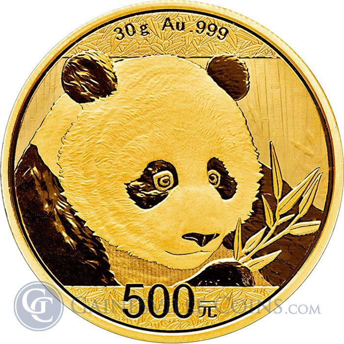 Image Showcase for 2018 Chinese Gold Panda 30 Grams (Sealed In Original Mint Plastic)