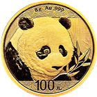 2018 8 Gram Chinese Gold Panda (Sealed In Original Mint Plastic)