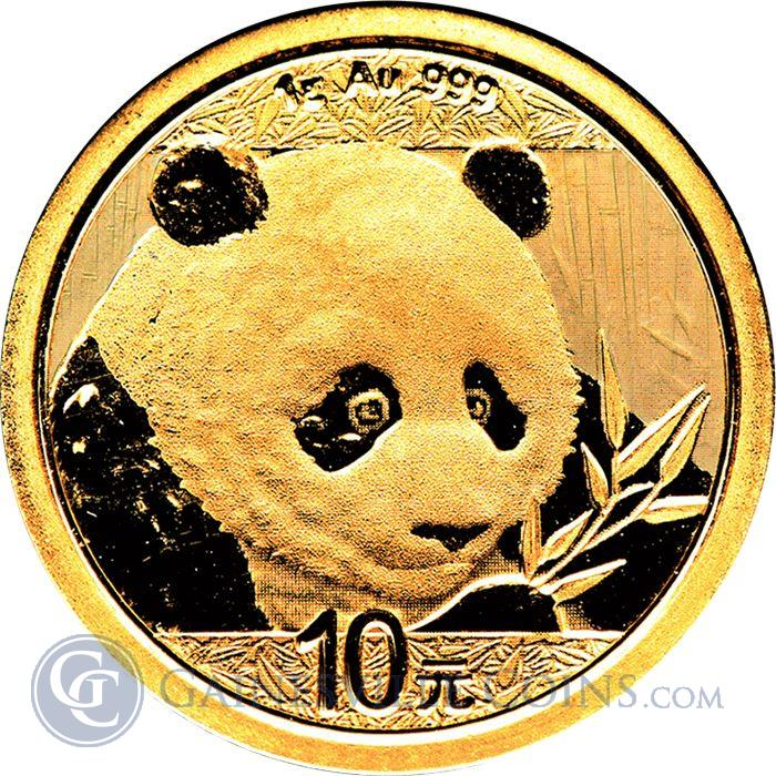 Image Showcase for 2018 1 Gram Chinese Gold Panda Coin (Sealed In Original Mint Plastic)