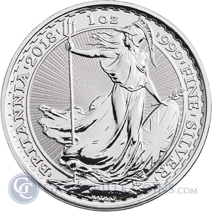 Image Showcase for 2018 1 oz Silver Britannia - British Royal Mint (Uncirculated)