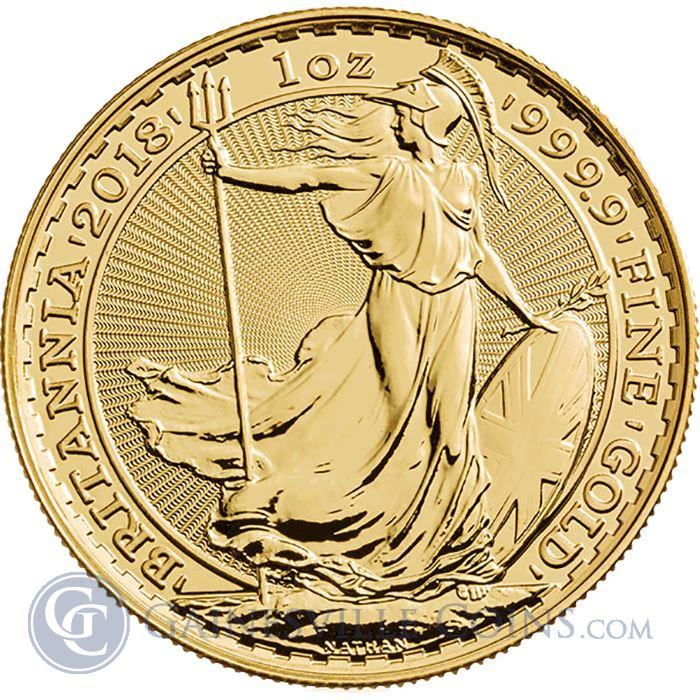 Image Showcase for 2018 Great Britain 1 oz Gold Britannia Bullion Coin