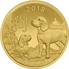 2018 1/2 oz Lunar Gold Dog - Royal Australian Mint