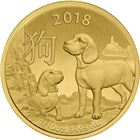 2018 1/10 oz Lunar Gold Dog - Royal Australian Mint