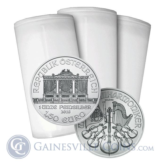 Image Showcase for 2018 1 oz Austrian Silver Philharmonic (Roll of 20 Coins)