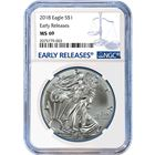2018 American Silver Eagle NGC MS69 Early Releases