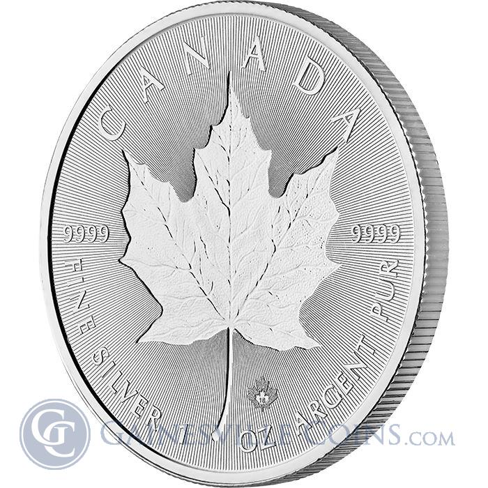 Image Showcase for 2018 1 oz Canadian Silver Incuse Maple Leaf - Brilliant Uncirculated