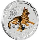 2018 1/2 oz Colorized Silver Bullion Dog Australia Perth Mint
