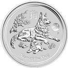 2018 1 oz Lunar Silver Dog Lion Privy - Australia Perth Mint (Limited Mintage Of Only 30,000!)