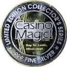 Casino Magic Limited Edition Proof Silver Round - Gold Gilded (1.44 oz ASW)