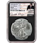 2018 American Silver Eagle NGC MS69 Early Releases - Liberty Coin Act Label Black Core