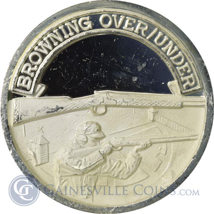 Image Showcase for Bowning Over/Under Proof Silver Art Round (.999 Pure) .65 oz ASW