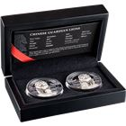 2017 Chinese Guardian Lions 2-Coin Silver Proof Set - $10 Palau