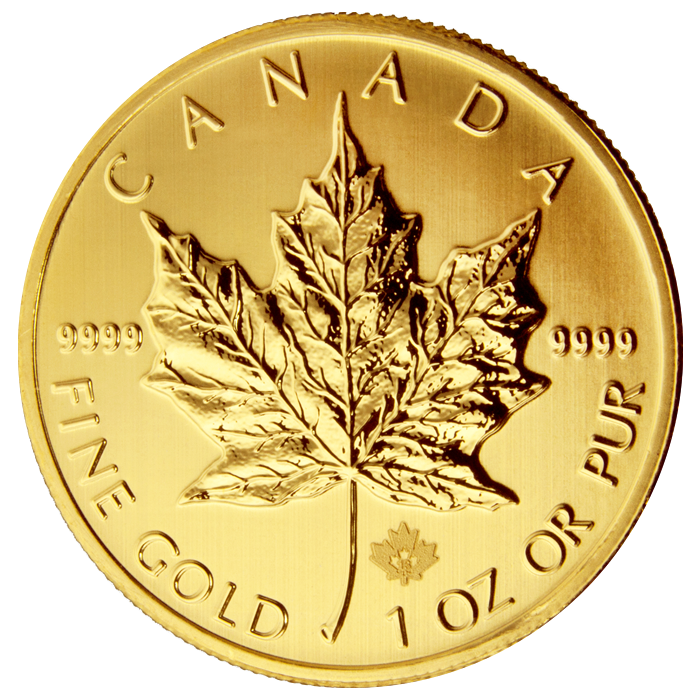 Gold and Silver Canadian Maple Leaf Coins Available