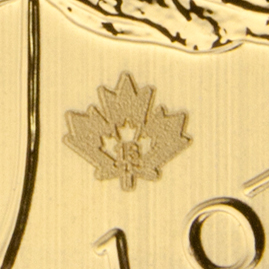 New Micro-Etched Laser Mark on 2013 Gold Maple Leaf