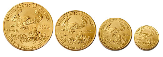 American Eagle Gold Coins (all sizes)