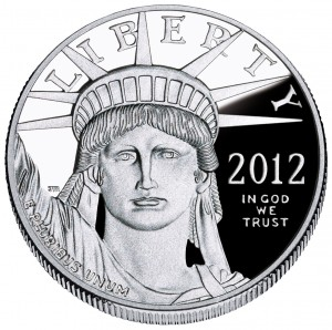 An American Platinum Eagle coin