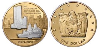 "Photo of the fake ""Exclusively Authorized"" 9/11 Coin (consumerist.com)"