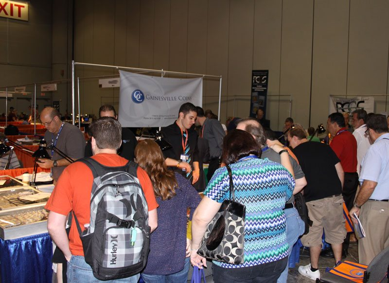 Crowds at the Gainesville Coins Booth