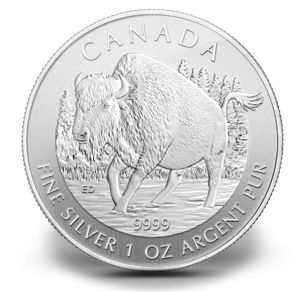 Wood Bison Canadian Wildlife Series Silver Coin