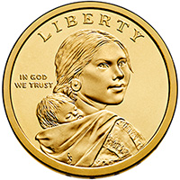 Sacagawea Dollar Coin Common Obverse