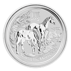 The design featured on the reverse of the silver coins depicts two horses standing in a Chinese landscape inspired by traditional Chinese painting styles. The two animals standing together represent the creature's social nature and companionship.