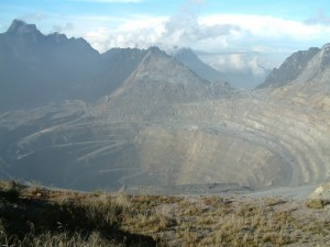 Indonesia's Grasberg mine, the largest copper mine in the world.