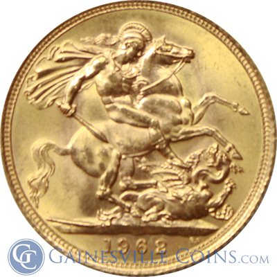 Gold Sovereign depicting St. George slaying the Dragon