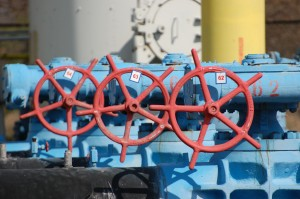 Russian natural gas pipeline in the Ukranian capital of Kiev, supplying Europe with energy