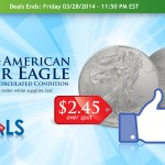 Daily Deal: 2014 American Silver Eagles $2.45 Over Spot!