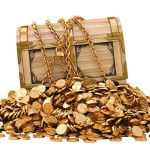 treasure chest of gold coins