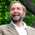 Thomas Mulcair is the surprising lead in the polls and represents the New Democratic Party of Canada.