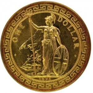 1896B British Gold Trade Dollar