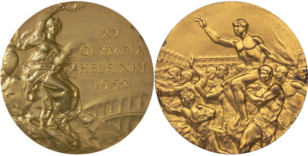 1952 Olympic medal design. Source: BBC