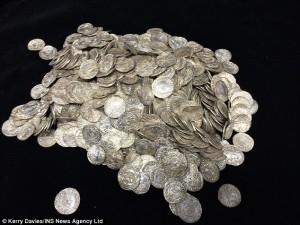 Pile of Anglo-Saxon silver coins