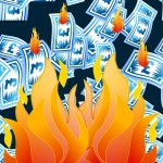 Do polymer banknotes burn?