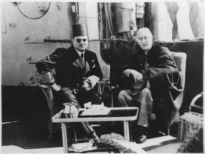 King Farouk and FDR (National Archives)