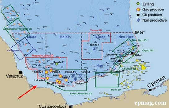Offshore operations in the Bay of Campeche