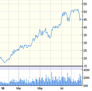 GDXJ YTD price chart. Source: Google Finance